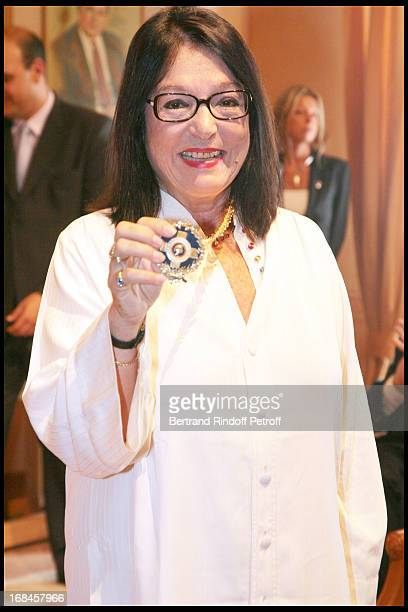Nana Mouskouri awarded with the Gold Medal of the city of Athens within Nana Mouskouri's Farewell Concert At Odeon Herodes Atticus In Athens