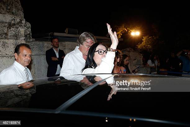Nana Mouskouri Back after the 'Nana Mouskouri Birthday Tour' In Herod Atticus Odeon Theatre on July 14 2014 in Athens Greece