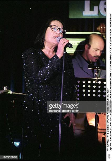 Nana Mouskouri concert at the 'Petit Journal' in Montparnasse to mark the launch of her new album 'Nana Swing' woman