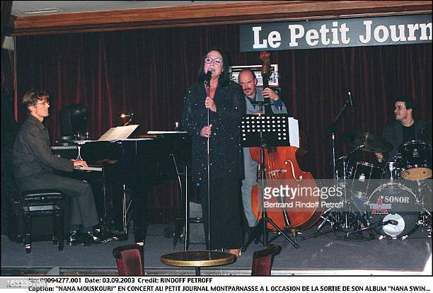 Nana Mouskouri concert at the Petit Journal in Montparnasse to mark the launch of her new album Nana Swing