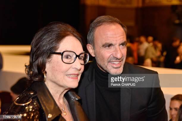 Nana Mouskouri et Nikos Aliagas le 22 janvier 2020 au Théâtre du Châtelet, Paris, France.