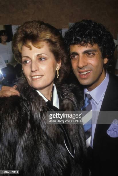Nana Mouskouri et sa femme à l'Olympia le 7 mars 1985 à Paris France