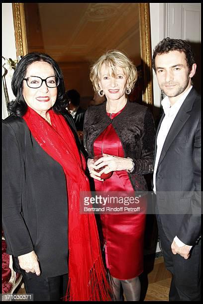 Nana Mouskouri Eve Ruggieri Cyril Vergniol at Stephane Bern Is Honoured At His Paris Home With The Title Of Officier De L'Ordre Des Arts Et Lettres...