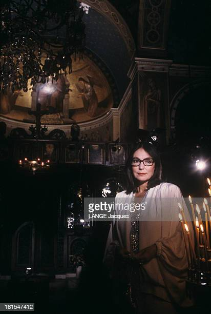 Nana Mouskouri In Greece For The Recording Of The Programme nana Classique