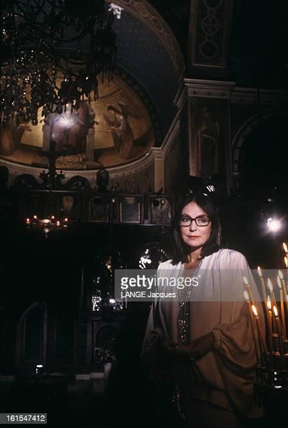 Nana Mouskouri In Greece For The Recording Of The Programme 'nana Classique'