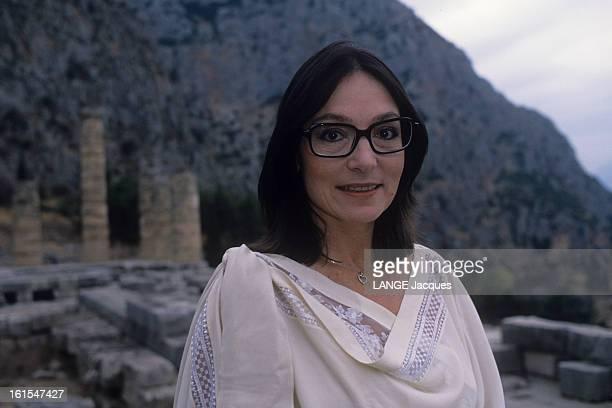 Nana Mouskouri In Greece For The Recording Of The Programme nana Classique