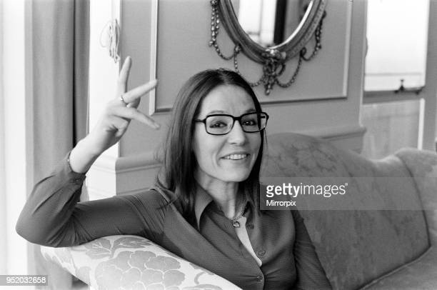 Nana Mouskouri International Singing Star in London 17th November 1976