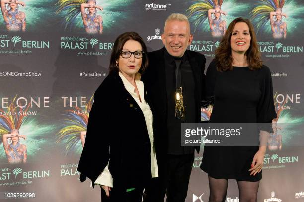 Nana Mouskouri Jean Paul Gaultier and her daughter Helene Petsilas arrive for the premiere of new show The One at the FriedrichstadtPalast in Berlin...
