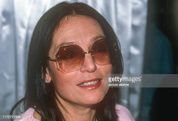 Nana Mouskouri on 18 December 1984 The greek singer and politician was born an 13 October 1934 | usage worldwide