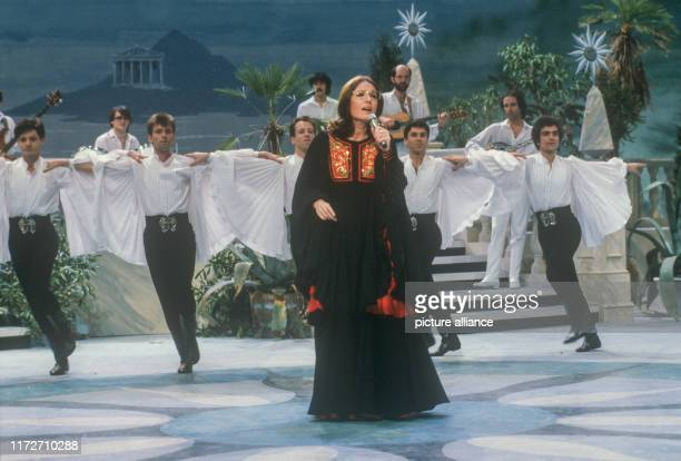 Nana Mouskouri on 18 February 1983 in Hanover in her show Zu meinem Glück gehört MusikThe greek singer and politician was born an 13 October 1934 |...