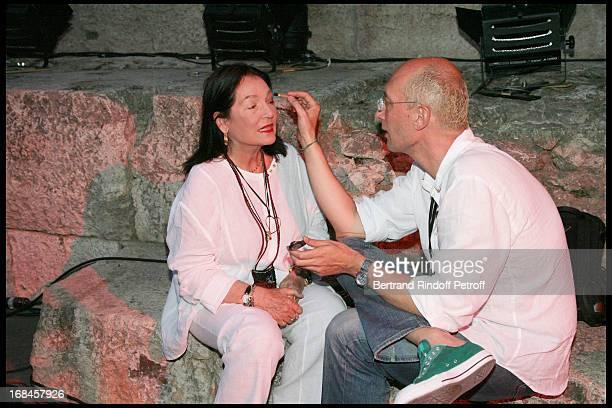 Nana Mouskouri performs at Nana Mouskouri's Farewell Concert At Odeon Herodes Atticus In Athens