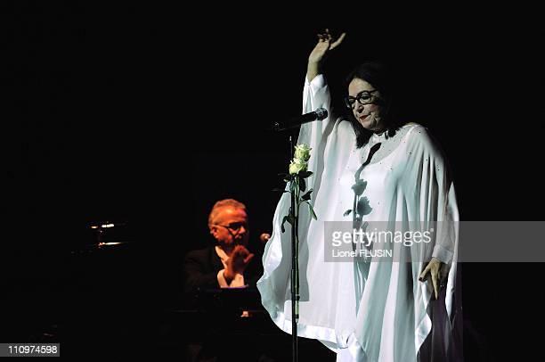 Nana Mouskouri performs at the Arena of Geneva, Switzerland on November 20th, 2007.