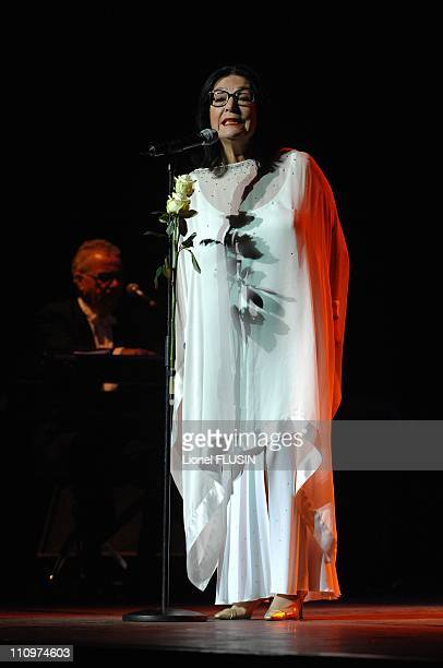 Nana Mouskouri performs at the Arena of Geneva Switzerland on November 20th 2007