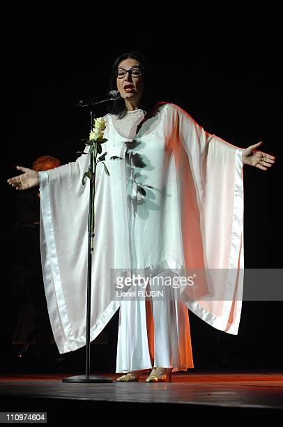 Nana Mouskouri performs at the Arena of Geneva Switzerland on November 20th 2007