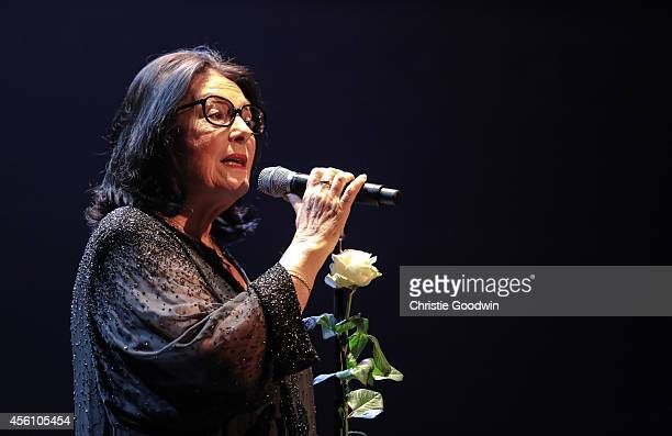 Nana Mouskouri performs on stage at Royal Albert Hall on September 25, 2014 in London, United Kingdom.