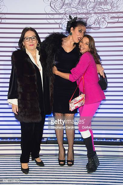 Nana Mouskouri Rossy De Palma and Victoria Abril attend the 'Jean Paul Gaultier Exhibition' Photocall At Grand Palais at Grand Palais on March 30...
