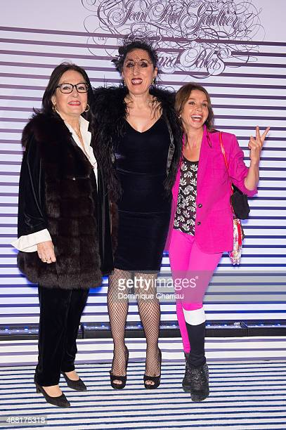 Nana Mouskouri Rossy De Plama and Victoria Abril attend the Jean Paul Gaultier Exhibition' Photocall at Grand Palais on March 30 2015 in Paris France