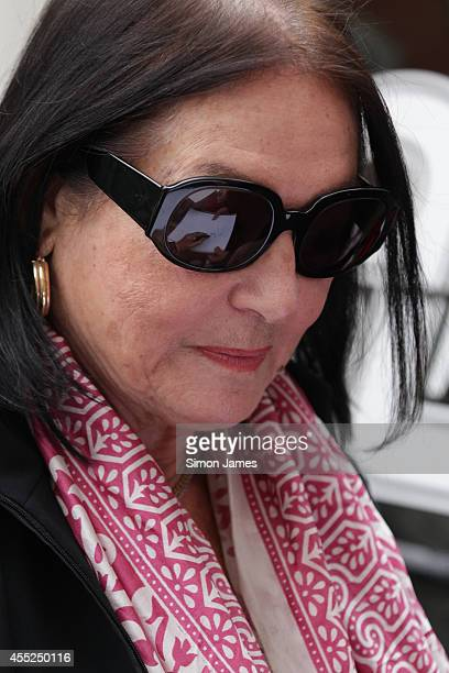 Nana Mouskouri sighting at the BBC on September 11 2014 in London England