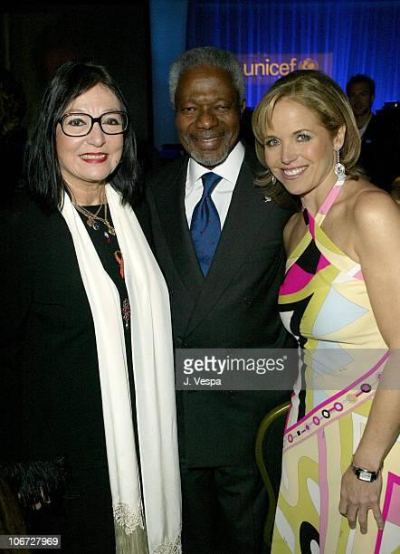 Nana Mouskouri United Nations SecretaryGeneral Kofi Annan and Katie Couric