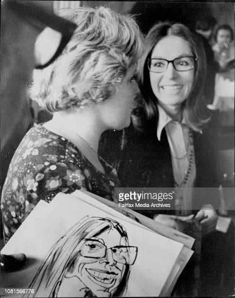 Nana Mouskouri was this afternoon presented with a gold record at the Caprice Restaurant Rose BayNana Mouskouri July 08 1974