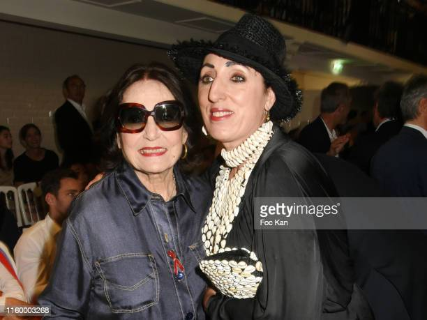 Nana Mouskouri and Rossy de Palma attend the Jean Paul Gaultier Haute Couture Fall/Winter 2019 2020 show as part of Paris Fashion Week on July 03...