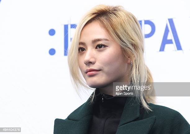 Nana of After School attends the 2016 Hera Seoul Fashion Week Big Park collection at DDP on October 19 2015 in Seoul South Korea