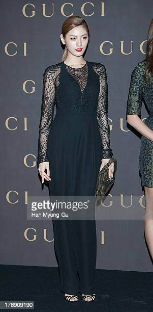 Nana of South Korean girl group After School attends during a promotional event for the Gucci 'House Of Artisan' at Gucci Gangnam Store on August 30...