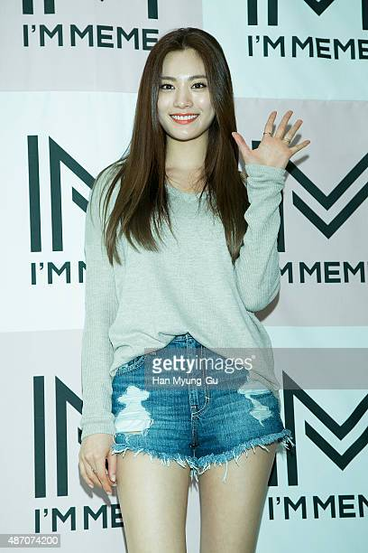 Nana of South Korean girl group After School attends the autograph session for 'MEMEBOX' on September 5 2015 in Seoul South Korea