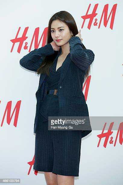 Nana of South Korean girl group After School attends the opening event for HM YeongDeungPo Times Square at Yeongdeungpo Times Square on March 13 2015...