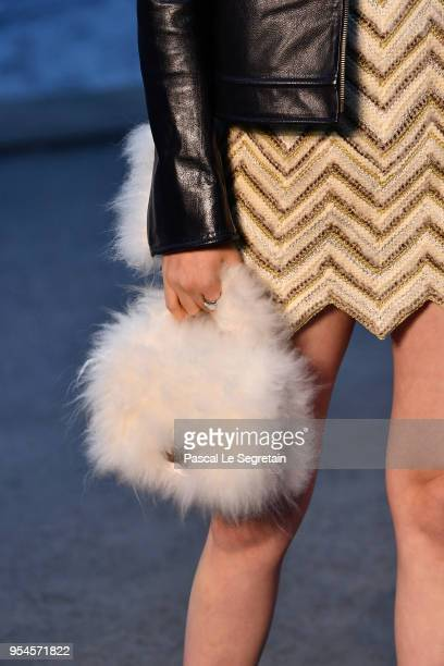 Nana OuYangbag detail attends the Chanel Cruise 2018/2019 Collection at Le Grand Palais on May 3 2018 in Paris France