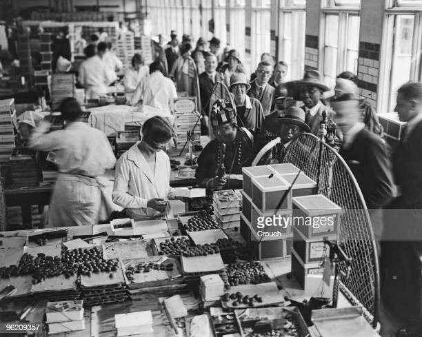 Nana Sir Ofori Atta I Paramount Chief of the Gold Coast Colony visits the Cadbury's chocolate factory Bournville Birmingham 10th July 1928