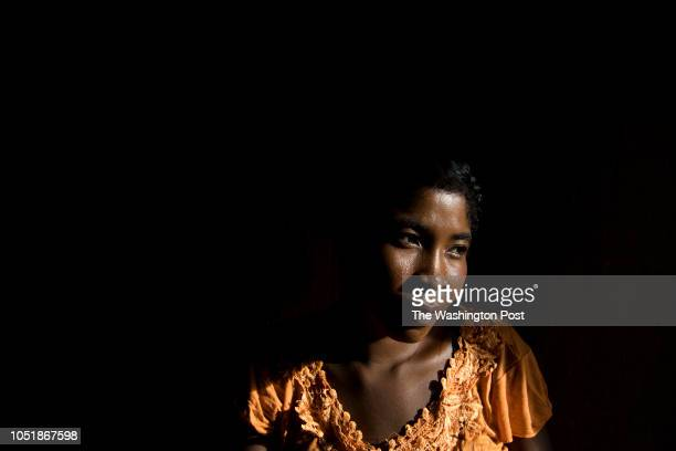 Nana sits for a portrait in Betsingilo Madagascar on April 7 2018 She has two children and recently got a birth control implant which is effective...