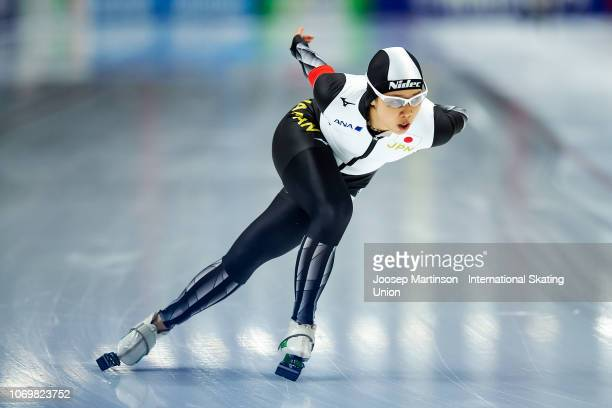 Nana Takagi of Japan competes in the Ladies 1500m during ISU World Cup Speed Skating at Tomaszow Mazoviecki Ice Arena on December 8 2018 in Tomaszow...