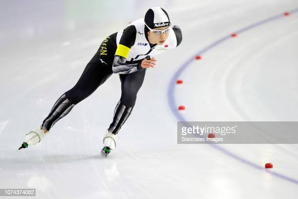 Nana Takagi of Japan during the 3000m during the ISU World Cup 4 at the Thialf Stadium on December 16 2018 in Heerenveen Netherlands