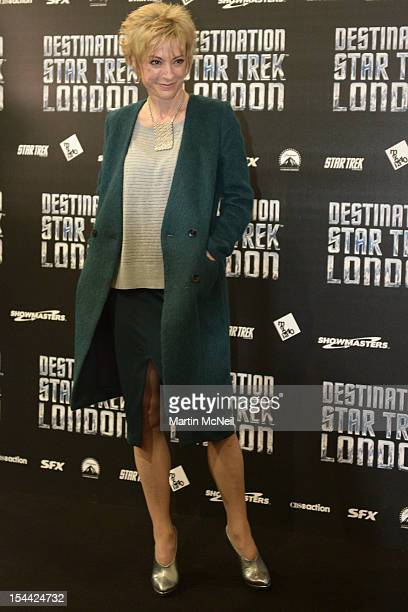 Nana Visitor attends a photocall at Destination Star Trek London at ExCel on October 19 2012 in London England