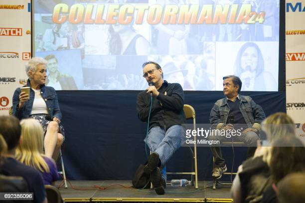 Nana Visitor Jeffrey Combs and Deep Roy participates in an open format Star Trek QA with fans at The Birmingham Film and Comic Con Collectormaina 24...