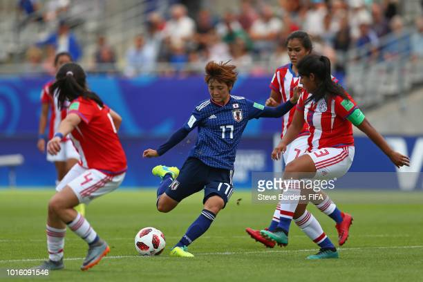 Nanami Kitamura of Japan in action during the FIFA U20 Women's World Cup France 2018 group C match between Japan and Paraguay at Stade de la Rabine...