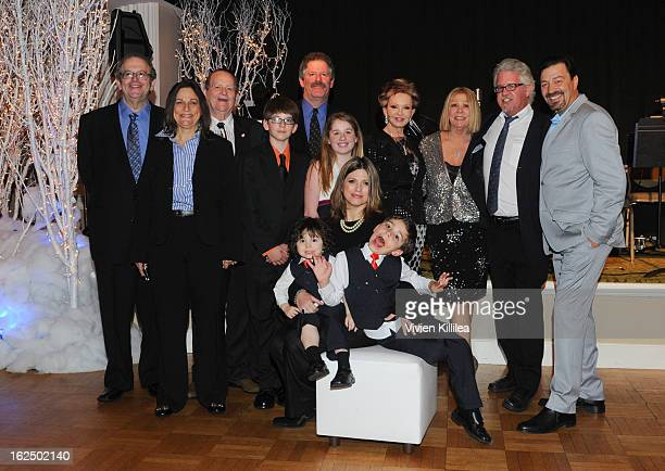 Nancee Borgnine and both sides of her family attend The Borgnine Movie Star Gala at Sportsmen's Lodge Event Center on February 23 2013 in Studio City...