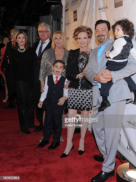 Nancee Borgnine and family attend The Borgnine Movie Star Gala at Sportsmen's Lodge Event Center on February 23 2013 in Studio City California