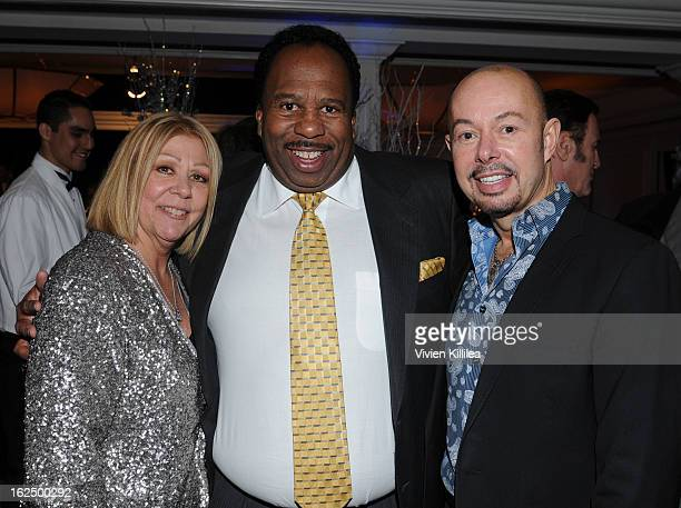 Nancee Borgnine Leslie David Baker and a guest attend The Borgnine Movie Star Gala at Sportsmen's Lodge Event Center on February 23 2013 in Studio...