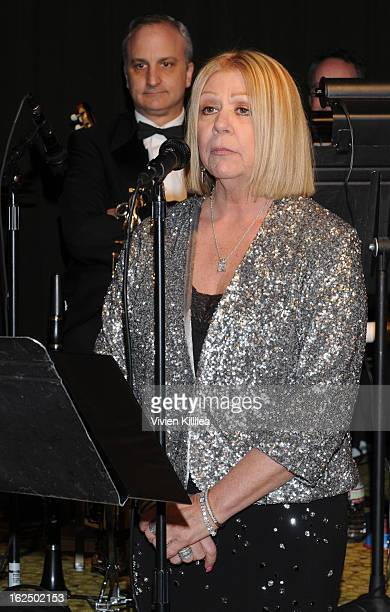 Nancee Borgnine speaks at The Borgnine Movie Star Gala at Sportsmen's Lodge Event Center on February 23 2013 in Studio City California
