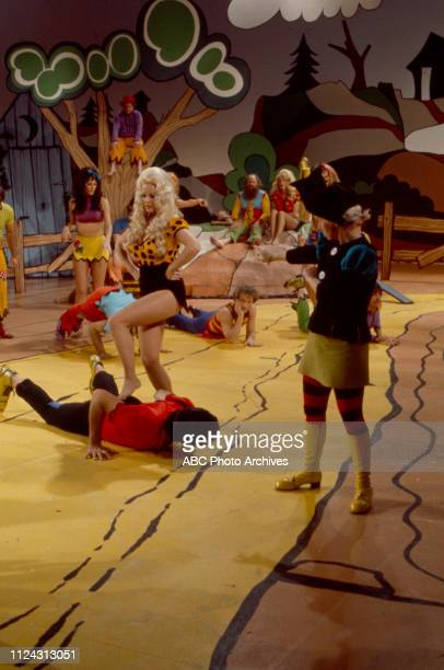Nancee Parkinson, Ray Young, Billie Hayes, cast appearing in the Walt Disney Television via Getty Images tv movie 'Li'l Abner'.