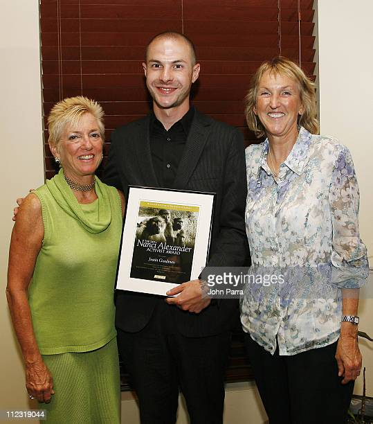 Nanci Alexander Justin Goodman and PETA President Ingrid E Newkirk *Exclusive Coverage*