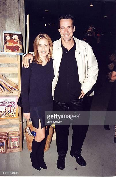 Nanci Chambers and David James Elliot during Tim Burton Book Signing at Storyopolis in Los Angeles California United States