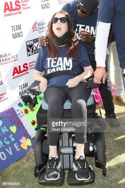 Nanci Ryder attends Nanci Ryder's Team Nanci at the 15th Annual LA County Walk to Defeat ALS at the Exposition Park on October 15 2017 in Los Angeles...