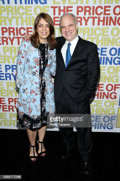 Nancy Abraham and Nathaniel Kahn attend HBO's The Price of Everything premiere at Hammer Museum on October 24 2018 in Los Angeles California