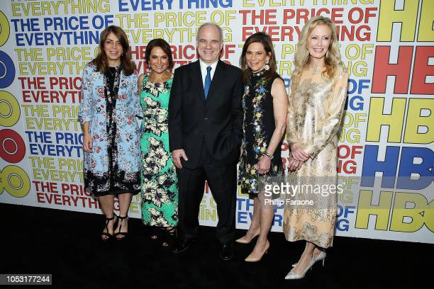 Nancy Abraham Carla Solomon Nathaniel Kahn Jennifer Blei Stockman and Debie Wisch attend HBO's The Price of Everything premiere at Hammer Museum on...