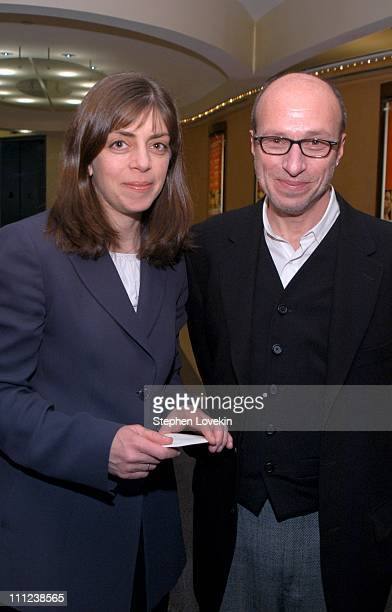 Nancy Abraham of HBO and Marc Uman from Thinkfilm during HBO/Cinemax and Think Film Present the New York Premiere of Spellbound at HBO Screening Room...