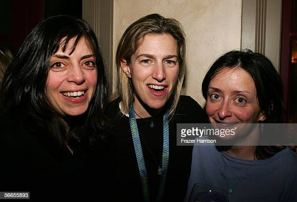 Nancy Abraham of HBO Documentaries Director Ricki Stern and Actress Rachel Dratch arrive to the Cinetic Media Party at the Sundance Film Festival...