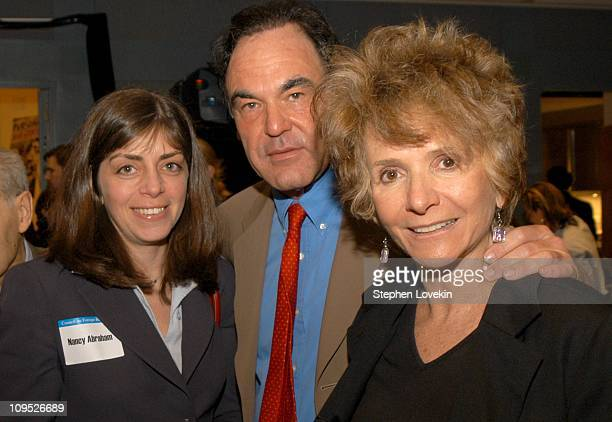 Nancy Abraham of HBO Oliver Stone and Sheila Nevins of HBO